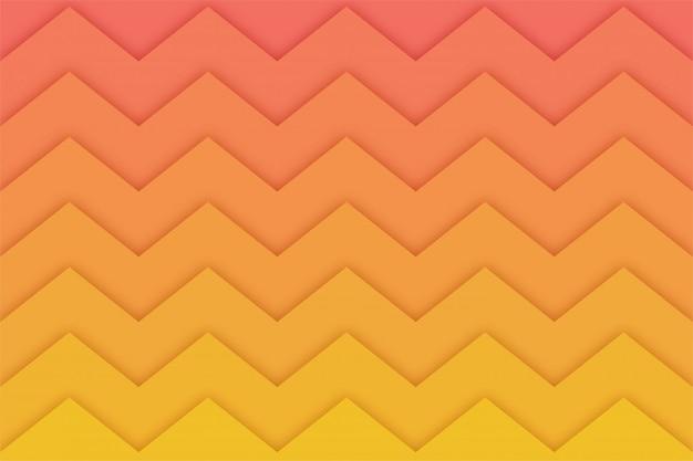 Abstrato em zig-zag com formas de corte de papel,
