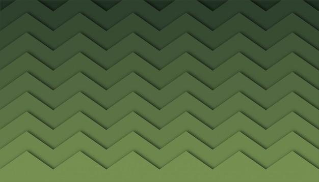 Abstrato em zigue-zague com formas de corte de papel.