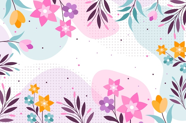 Abstrato floral colorido