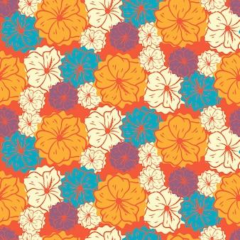Abstrato floral sem costura de fundo, fundo floral em cores pastel