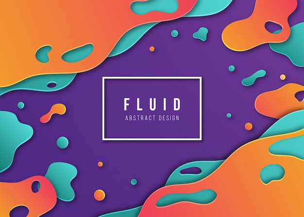 Abstrato fluido com gradientes