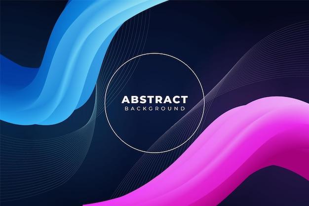 Abstrato fluido de fundo dinâmico diagonal forma ondulada azul rosa com linhas
