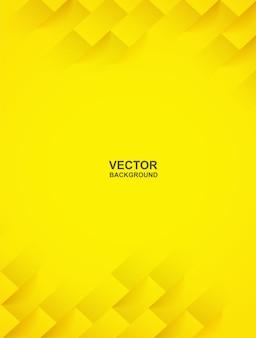 Abstrato. fundo geométrico da forma quadrada amarela. luz e sombra .
