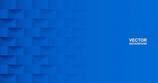 Abstrato. fundo geométrico de forma quadrada azul. luz e sombra . .