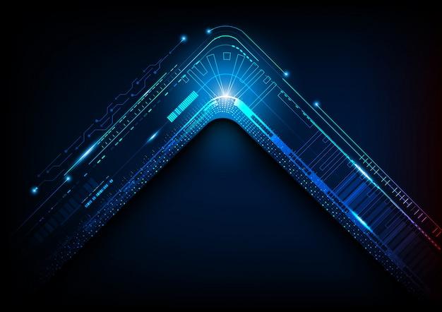 Abstrato futurista de tecnologia digital