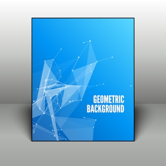 Abstrato geométrico azul no quadro preto