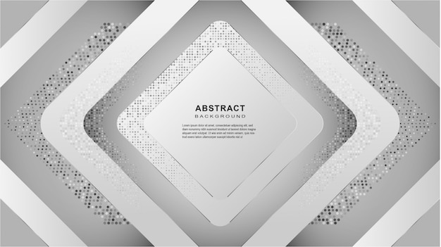 Abstrato geométrico branco e cinza linha curva fundo gradiente.