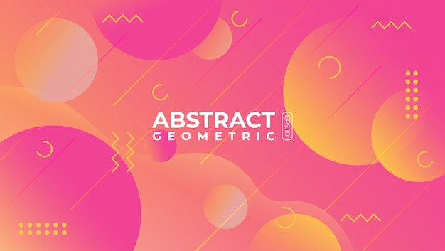 Abstrato geométrico com estilo moderno e futurista