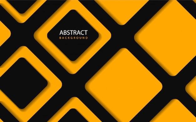 Abstrato geométrico fundo laranja e preto