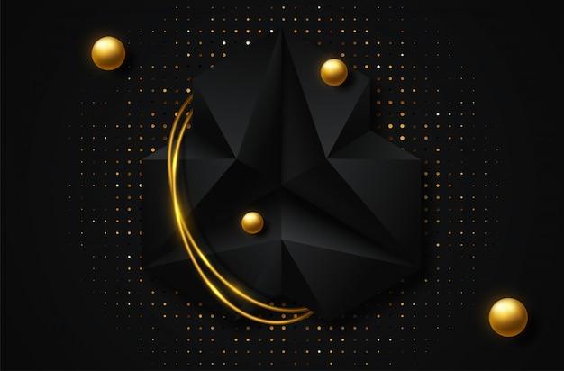 Abstrato geométrico ilustração em vetor 3d