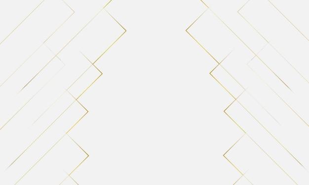Abstrato geométrico moderno em estilo de corte de papel com linhas douradas sobre fundo branco