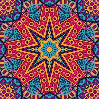 Abstrato geométrico oriental vintage étnico padrão sem emenda ornamental