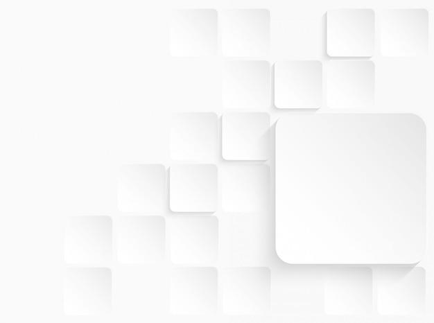 Abstrato geométrico quadrado papel branco fundo