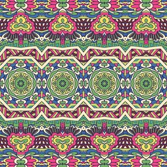 Abstrato geométrico têxtil padrão sem emenda ornamental colorido carnaval