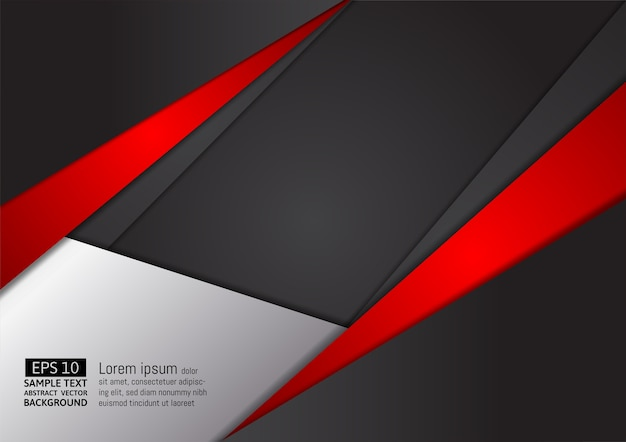 Abstrato geométrico vermelho e preto cor de fundo vector