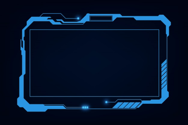 Abstrato hud ui gui futuro sistema futurista de tela design virtual