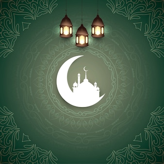 Abstrato islâmico eid mubarak festival fundo
