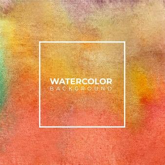 Abstrato laranja aquarela, pintura à mão. cor espirrando no papel.