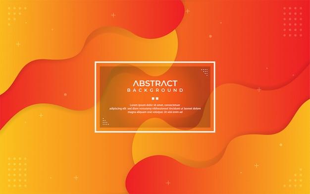 Abstrato laranja gradiente dinâmico com composição de forma