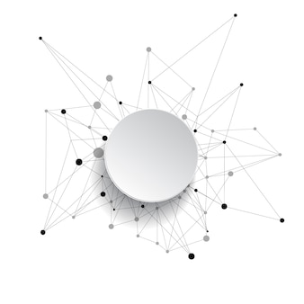 Abstrato. linhas e pontos conectados.