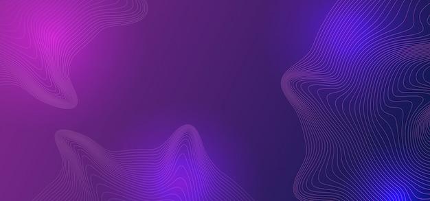 Abstrato líquido com modernas cores ultra violetas