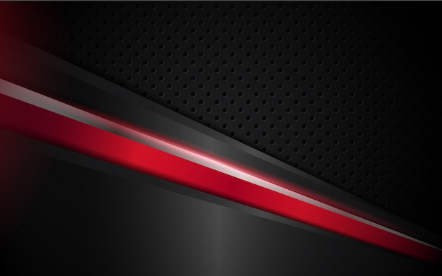 Abstrato listrado preto e vermelho