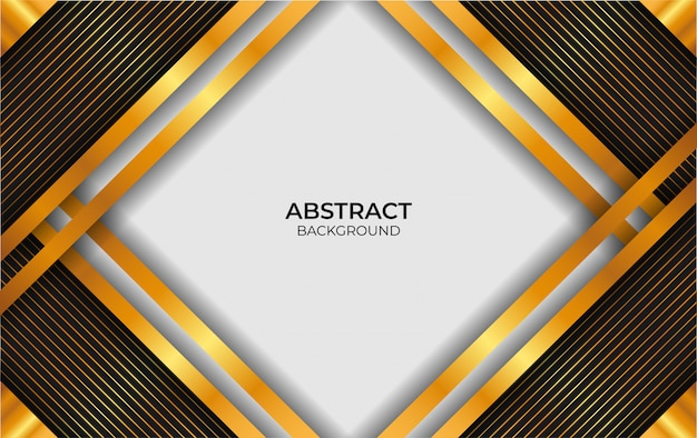 Abstrato luxo branco e ouro design