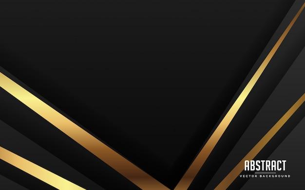 Abstrato luxo preto cor e ouro cor moderna