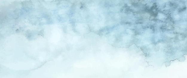 Abstrato luz azul aquarela pintada à mão para segundo plano. manchas de vetor artístico usado como elemento no design decorativo de cabeçalho, pôster, cartão, capa ou banner. escova incluída no arquivo.