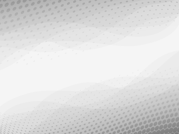 Abstrato luz cinza e branco de fundo vector com textura de meio-tom pontilhada
