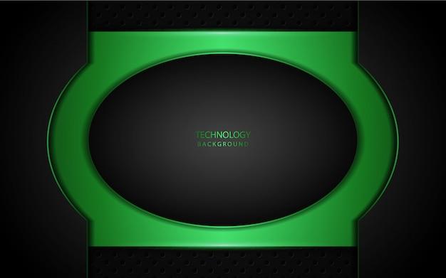 Abstrato luz verde sobre fundo escuro
