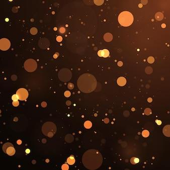Abstrato mágico bokeh de fundo com efeito de luzes partículas de poeira mágicas brilhantes