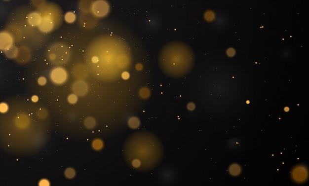 Abstrato mágico com efeito de luzes de bokeh