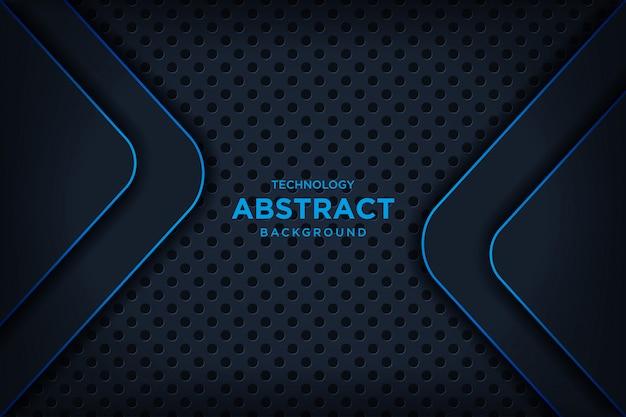 Abstrato metálico preto azul moldura layout tecnologia moderna glitter