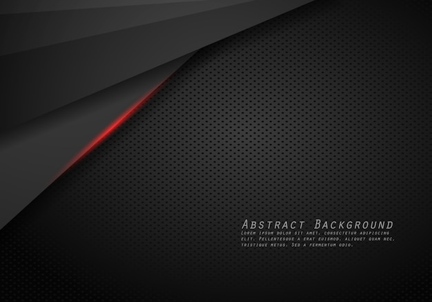 Abstrato metálico vermelho preto quadro layout tecnologia moderna modelo fundo