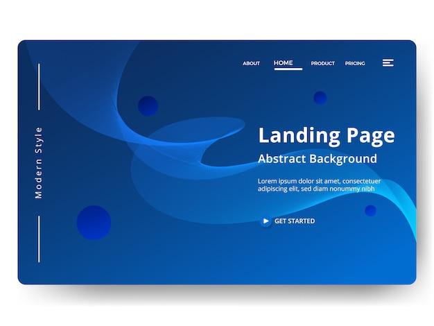 Abstrato. modelo de página de destino. página da web para desenvolvimento de sites e dispositivos móveis.