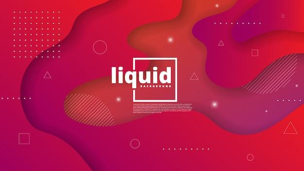 Abstrato moderno com elemento fluido e líquido
