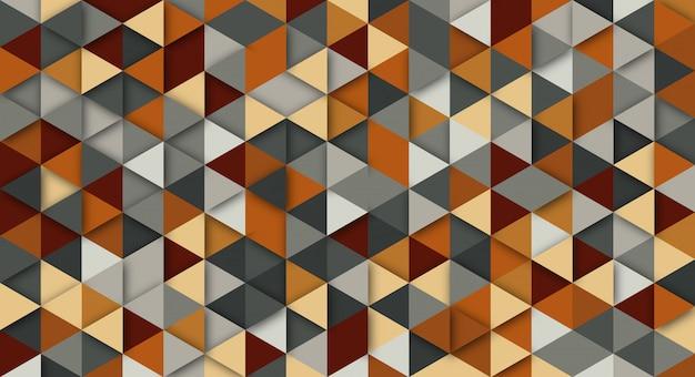 Abstrato moderno com elementos do triângulo. fundo com cores retrô para cartazes, banners e sites de landing page.