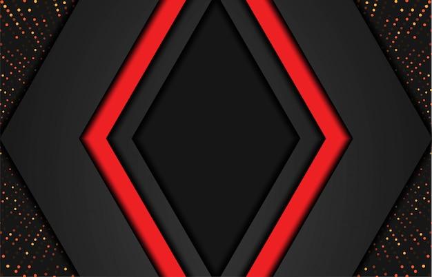 Abstrato moderno com formas poligonais