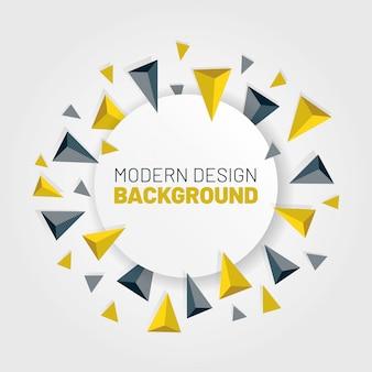Abstrato moderno com ilustração vetorial de setas