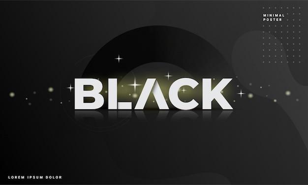 Abstrato moderno com um conceito preto