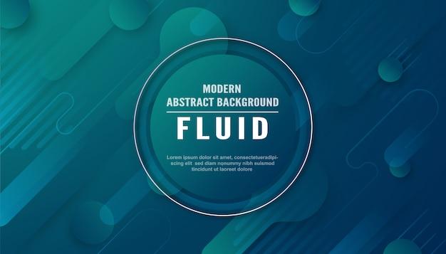 Abstrato moderno em estilo líquido e fluido.
