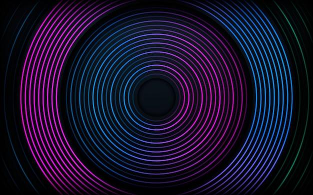 Abstrato moderno escuro. decoração de linha gradiente colorido.