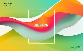 Abstrato moderno fluido ondulado