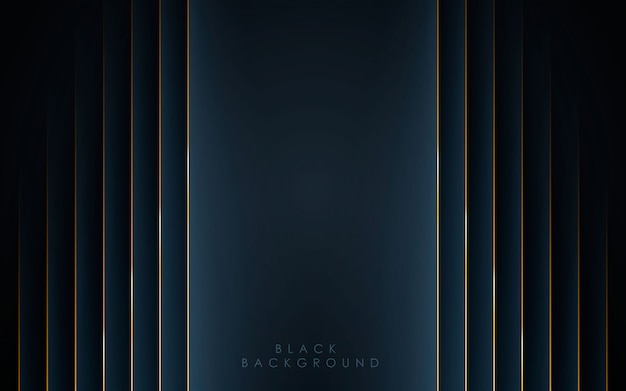 Abstrato moderno forma preta