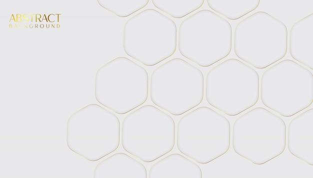 Abstrato moderno hexágono dourado e cinza