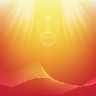 Abstrato moderno laranja com ilustração de luz solar