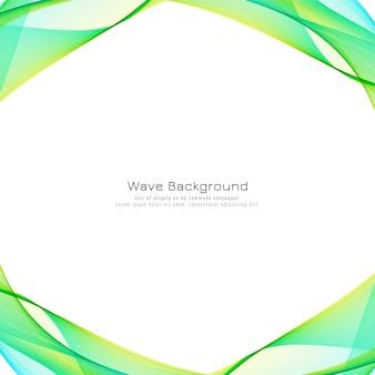 Abstrato moderno onda colorida