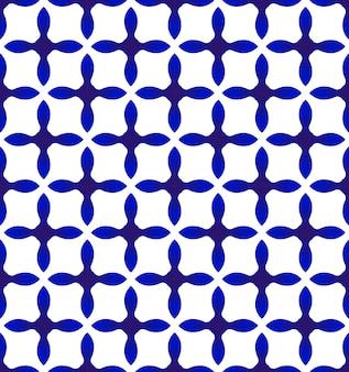 Abstrato moderno padrão azul e branco