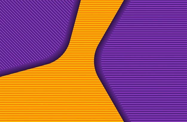 Abstrato moderno padrão de linha laranja e roxa colors.white.